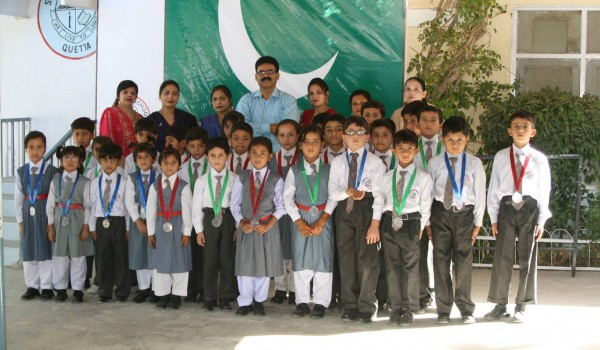 Pastor Asif Jhon..junior st. Marians with medals f…